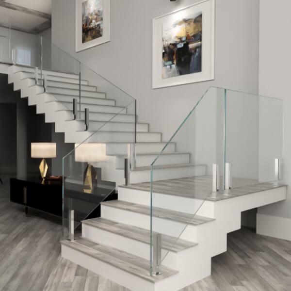 Railing glass desert glass